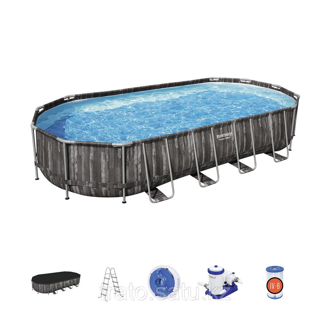 Каркасный бассейн Bestway 732 х 366 х 122 см с фильтр насосом