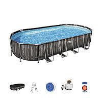 Каркасный бассейн Bestway 732 х 366 х 122 см с песочным фильтр насосом