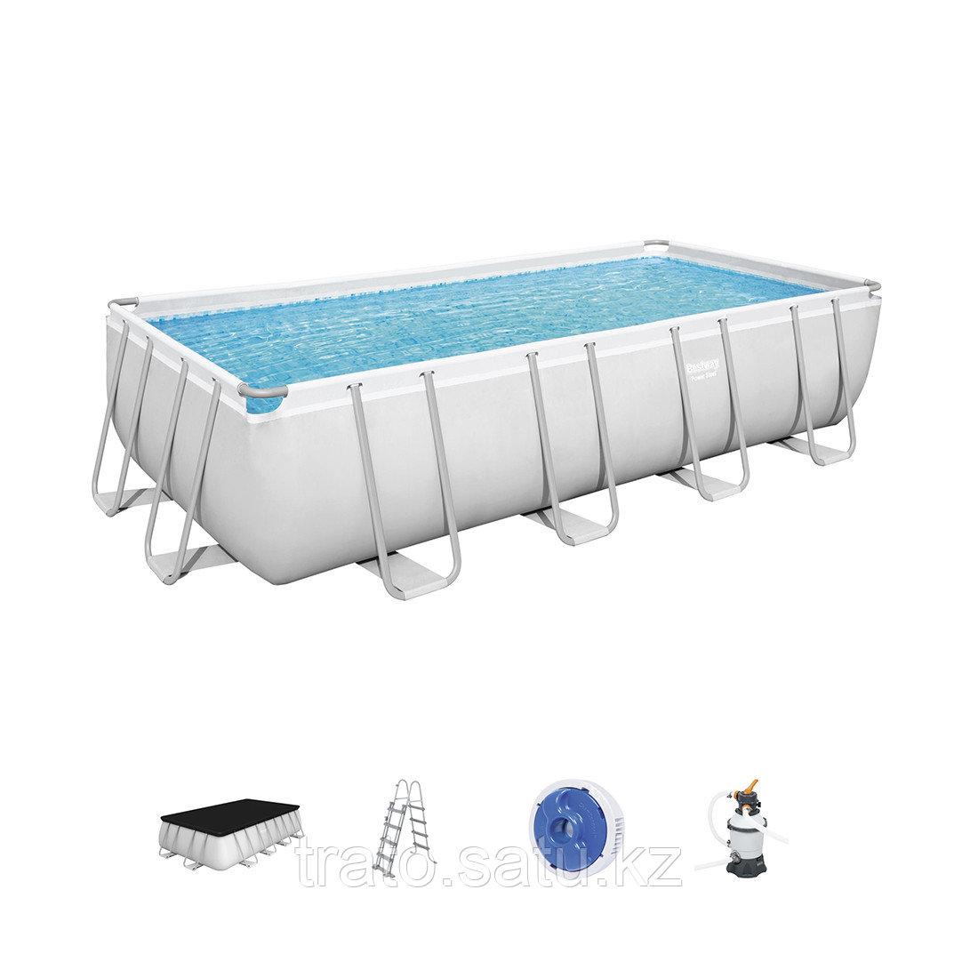 Каркасный бассейн Bestway 488х244х122см с песочным фильтр насосом