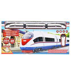 IV. Железная дорога Скоростной пассажирский поезд на инфракрасном управлении, 264 см. (свет, звук)