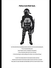 Противоударные щиты, шлемы и полный комплект экипировки.