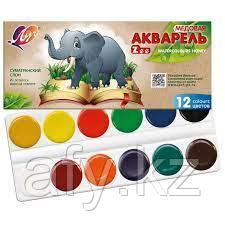 Акварельные краски луч 12 цв зоо mini