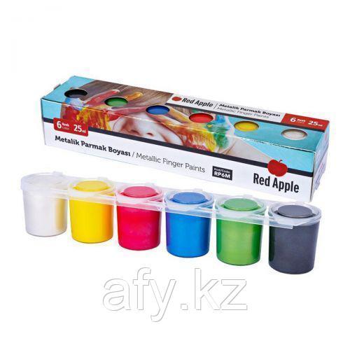 Краски пальчиковые 6 цветов