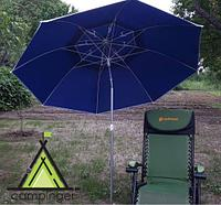 Зонт с наклоном для пляжа с антиветровым клапаном