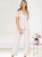 Пижама женская S/44-46, Бледно-розовый
