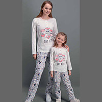 Пижама девичья подростк 16/176 см, Кремовый