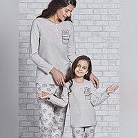 Пижама детская девичья 3/98 см, Бежевый
