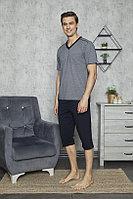Пижама мужская L/48-50, Тёмно-синий