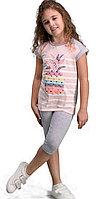 Пижама детская девичья 4/104 см, Серый