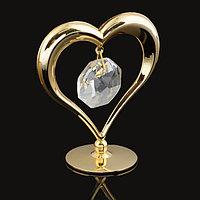Сувенир «Сердце», на подставке, с кристаллом Сваровски, 6 см