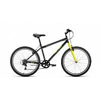 """Велосипед ALTAIR MTB HT 26 1.0 (26"""" 7 ск. рост 17"""") 2020-2021, черный/желтый, RBKT1M166011"""