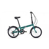 """Велосипед FORWARD ENIGMA 20 2.0 (20"""" 7 ск. рост 11"""" скл.) 2020-2021, зеленый/коричневый, фото 1"""