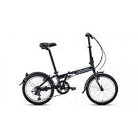 """Велосипед FORWARD ENIGMA 20 2.0 (20"""" 7 ск. рост 11"""" скл.) 2020-2021, черный/белый, фото 1"""