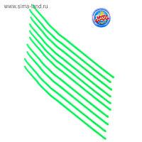 Проволока с ворсом для поделок и декорирования, набор 10 шт., цвет зелёный