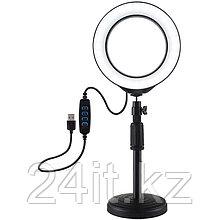 """Кольцевая USB LED лампа Puluz PU392 6.2"""" + настольное крепление 18-28 см"""