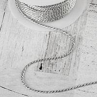 Нить для плетения d = 2 мм, 25 ± 1 м, цвет серебряный №19