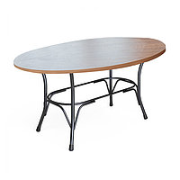 Стол Лавр 1400*800 цв.каркас ,столешница Регби 1400*800 (F)
