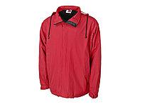 Куртка мужская с капюшоном Wind, красный