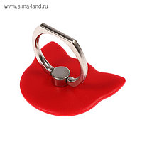 """Держатель-подставка с кольцом для телефона LuazON, в форме """"Кошки"""", красный"""