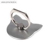 """Держатель-подставка с кольцом для телефона LuazON, в форме """"Кошки"""", цвет сатин"""