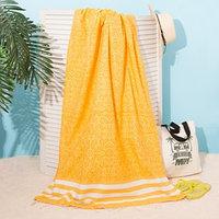 Полотенце для ванны Пештемаль Персия 90х170см, 150г/м,80 хл, 20 п/э, Желтый