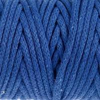 Шнур для рукоделия хлопковый 'Софтино' 100 хлопок 4 мм, 50м/140гр (синий)