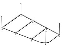 Рама Vento Spa для ванны NIKA 160х105, 160.105.02.100 (NK160.105FL)(левая)