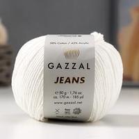 Пряжа 'Jeans-GZ' 58 хлопок, 42 акрил 170м/50гр (1101) (комплект из 2 шт.)