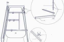 Крепеж универсальный для рамы ванн Vento Spa DERIA 1800*800(DERFS)