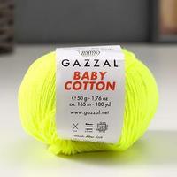 Пряжа 'Baby Cotton' 60 хлопок, 40 полиакрил 165м/50гр (3462) (комплект из 5 шт.)