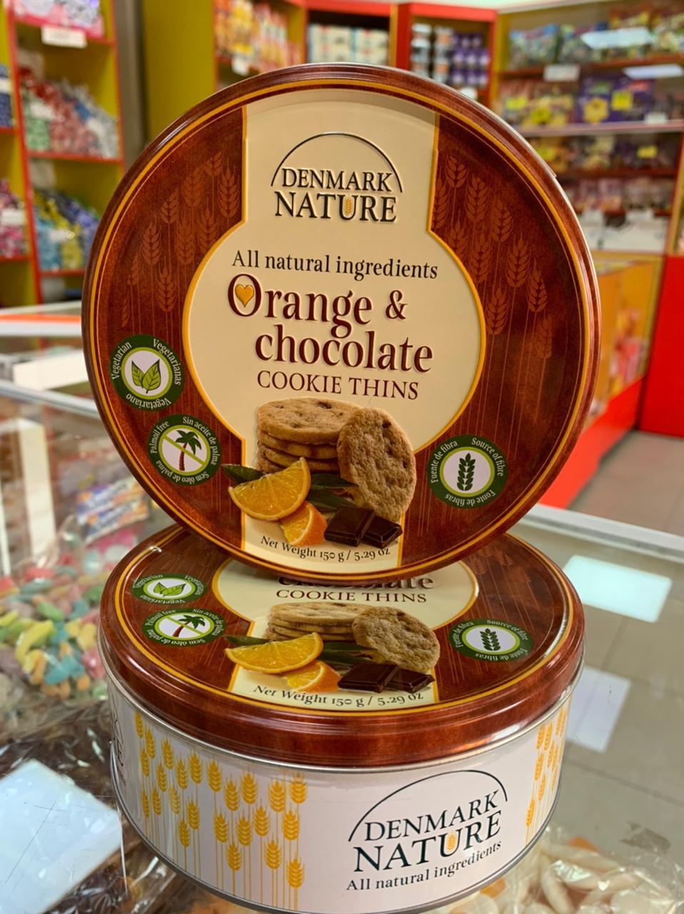 Печенье Denmark Nature cookie thins жб банка 150 гр.