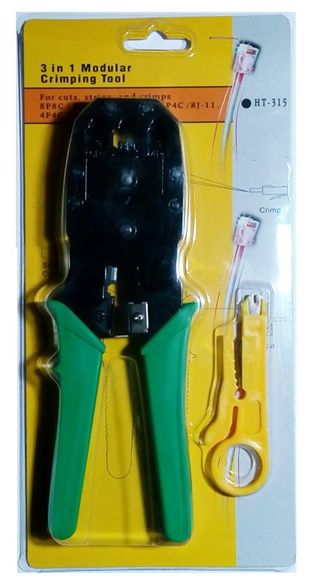 Инструмент HT-315 для обжима коннекторов RJ45/RJ12/RJ11