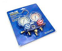 Манифолд для заправки кондиционера Value VMG-2-R22-B-03