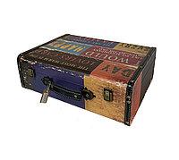 Чемодан/кейс для барбера кожзам с двумя замками 40 х 30 х 14 см в ассорт. №37471