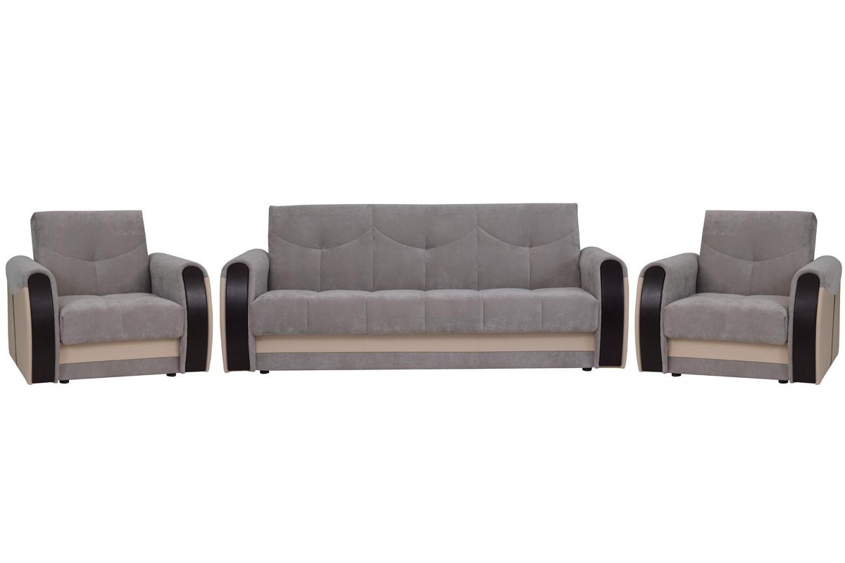 Комплект мягкой мебели Сиеста 4, Серый, АСМ(Россия)