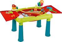 KETER Стол CREATIVE для детского творчества и игры с водой и песком, Бирюзовый/Красный (79x56x50h)