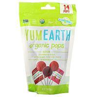 Органические фруктовые леденцы на палочке с кислинкой 14 шт 3 вкуса
