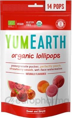 Органические фруктовые леденцы на палочке 14 шт 4 вкуса