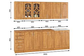 Комплект мебели для кухни Оля 2600, Ольха, MEBEL SERVICE(Украина), фото 2