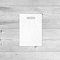 Пакеты с логотипом 25х36, Белый