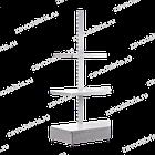 Стеллаж металлический торцевой  1600*500/400, фото 2