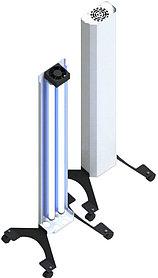 Бактерицидный рециркулятор, Clean HOME 2, Передвижной, 2 бактерицидные лампы (60см). 50 W