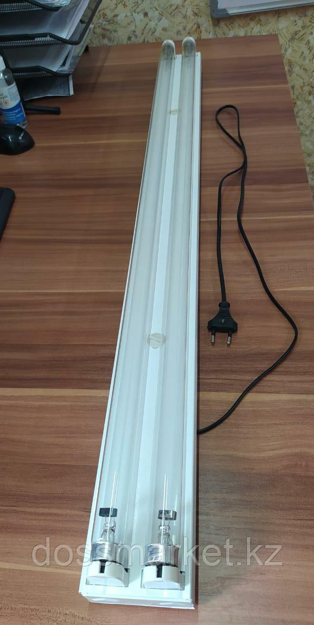 Бактерицидная ультрафиолетовая лампа в комплекте 120см, Т8УФ 72Вт, 2 лампы, корпус, кабель