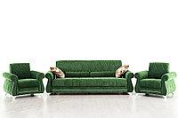 М/М Роуз, Диван ТД256 Зеленый + 2кр Роуз ТК256, Комплект, НиК