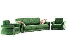 М/М Роуз, Диван ТД256 Зеленый + 2кр Роуз ТК256, Комплект, НиК, фото 2