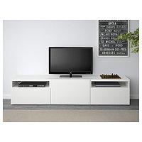 Тумба под ТВ БЕСТО Лаппвикен белый 180x42x39 см ИКЕА, IKEA