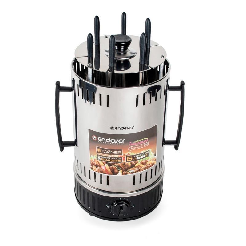 Электрошашлычница ENDEVER Grillmaster 295, серебристый/черный