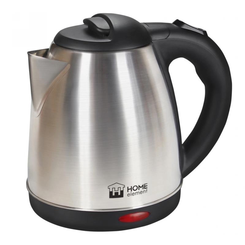 Чайник HOME ELEMENT HE-KT166 черный-сталь