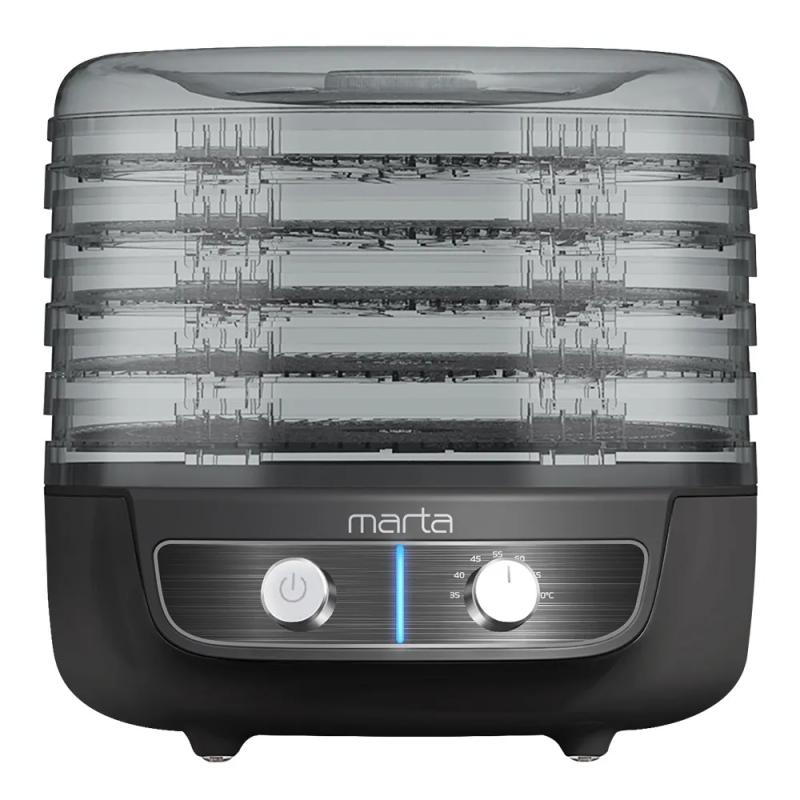 Сушилка для овощей и фруктов Marta MFD-8015PS черный жемчуг