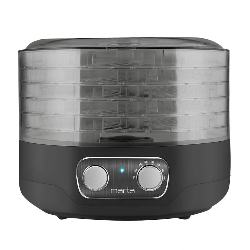 Сушилка для овощей и фруктов Marta MFD-205PS черный жемчуг